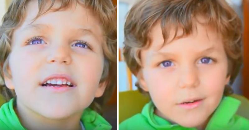 絕對沒戴變色片!男孩擁超稀有「紫羅蘭眼睛」 世上只有600個幸運兒!