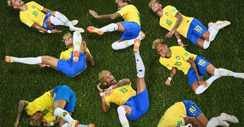 被足球耽誤的影帝?內馬爾世界盃總計「倒地14分鐘」 平均每場滾3分半