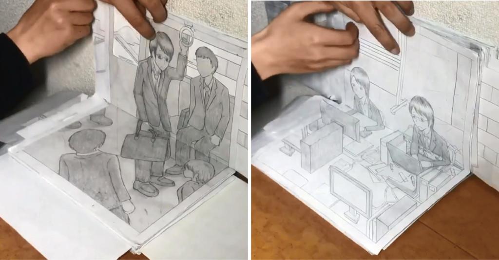 日網友用「會動的手繪漫畫」 畫出社畜時代勞工血淚