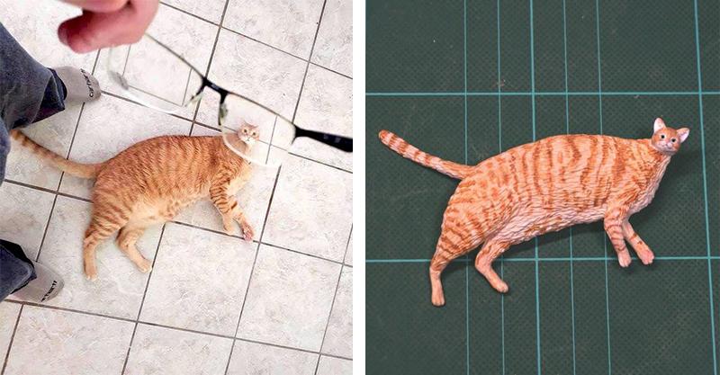 18個「爆紅梗圖→實體模型」讓網友跪求量產!人型貓咪讓人笑到噴淚XD
