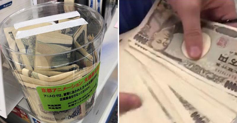 網紅應援京阿尼直接「果斷捐100萬」 鏡頭拍到「募款箱內的畫面」卻讓網友秒鼻酸