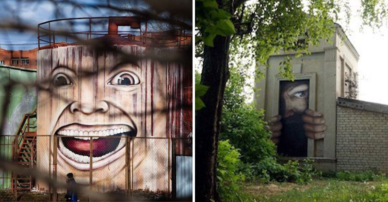 32個黑暗到像「鬼片裡才會出現」的建築 外牆是《鬼店》海報嚇壞網友:笑到心裡發寒
