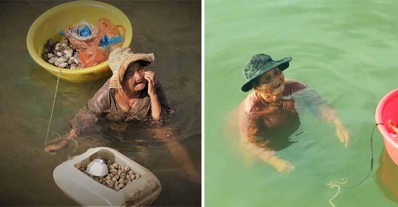 85歲阿嬤為照顧精障女兒...泡海水撿貝類「泡到皮膚裂開」!鄰居不捨:她仍每天笑著打招呼