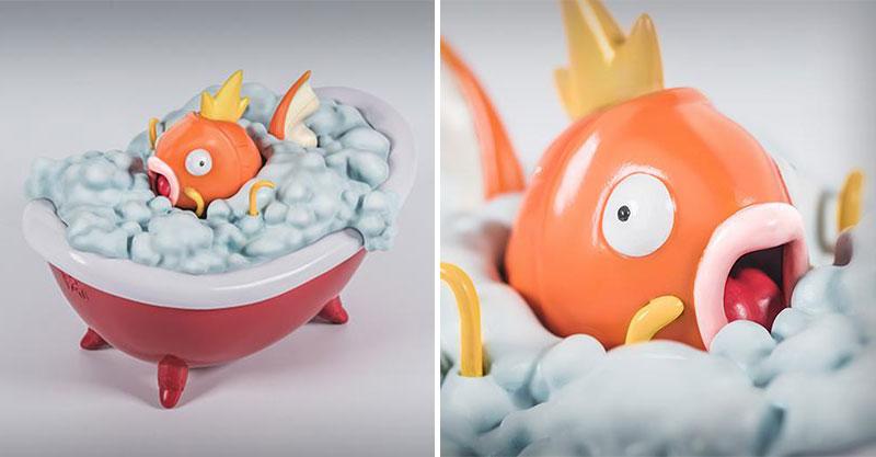 日本推「鯉魚王出浴」公仔意外超人氣 泡泡浴下「超驚人肉體」網全嚇呆:童年已毀...