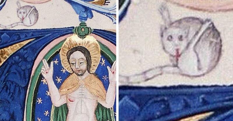他發現中世紀的「貓咪插畫」都有一個奇怪共通點 古人眼中的貓咪...原來跟我們不同!