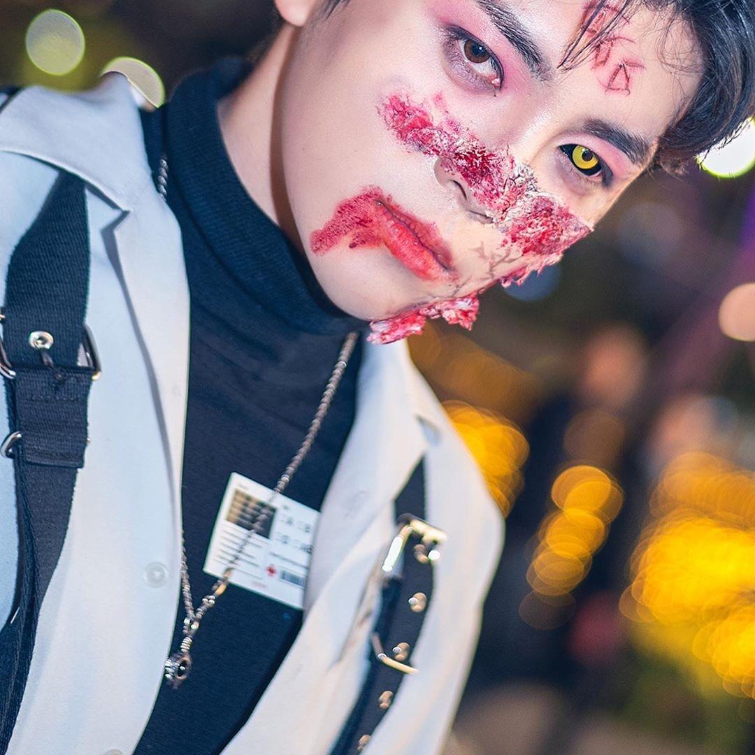 韓男大生「扮殭屍太帥氣」女網友狂朝聖!網翻出「卸妝照」直接戀愛
