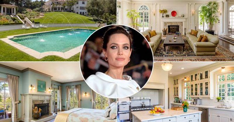 裘莉的「7億豪奢莊園」曝光 復古「好萊塢噴泉泳池」以為電影場景!