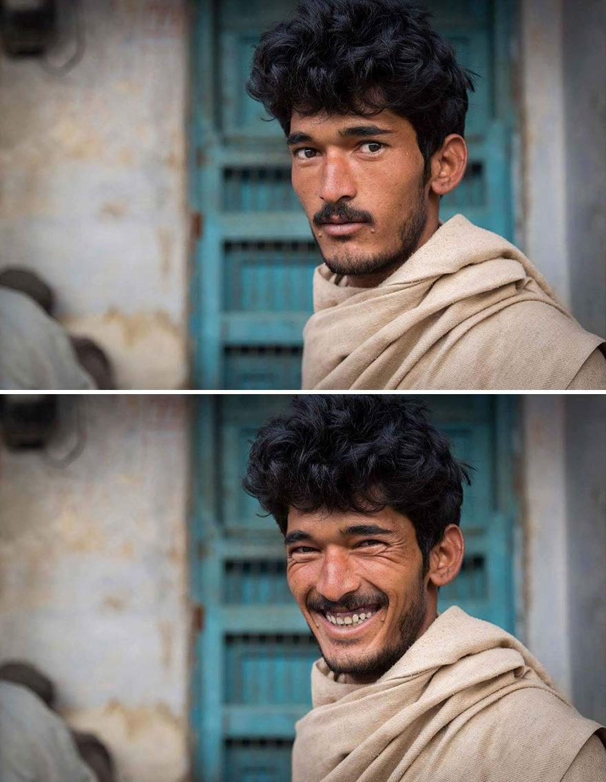 攝影師捕捉「笑容綻放」前後對比 證明一個微笑就能改變世界❤