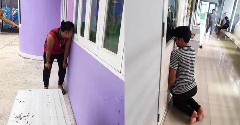 開學第一天!走廊出現一堆「忍者家長」 網PO爆笑照:一天看3次